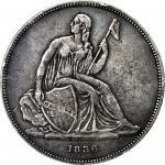 1836 Gobrecht Silver Dollar. Name on Base. Judd-60 Original, Pollock-65. Rarity-1. Dannreuther Rever