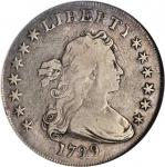 1799 Draped Bust Silver Dollar. BB-168, B-22. Rarity-5. Fine-12 (NGC).