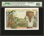 CAMEROON. Banque Centrale. 1000 Francs, ND (1962). P-12s. Specimen. PMG Gem Uncirculated 65 EPQ.