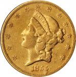 1855-S Liberty Head Double Eagle. EF-45 (NGC).