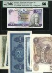 x A selection of British banknotes, Bank of England, £10, British Linen Bank, £1, £5, Isle of Man Go