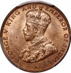 Hong Kong, copper 1 cent, 1934, PCGS MS64RB. #38250993
