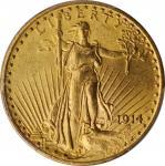 1914 Saint-Gaudens Double Eagle. MS-63 (PCGS).