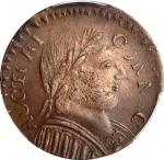 1787 Connecticut Copper. Miller 1.2-C, W-2720. Rarity-3. Mailed Bust Right, Muttonhead. AU-58 (PCGS)