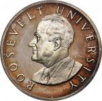 1965 Roosevelt University Numismatic Education Program Medal. Silver. 39 mm. 26.3 grams. By Gilroy R