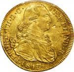 COLOMBIA. 1817-FM 8 Escudos. Popayán mint. Ferdinand VII (1808-1833). Restrepo M128.29. AU-58 (PCGS)