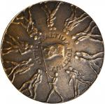 Australia. 1956 Olympic Games, Melbourne, Participation Medal. Bronze. 63.4 mm. Gad-1956-2. About Un