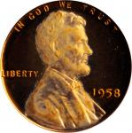 1958 Lincoln Cent. Proof-68 Deep Cameo (PCGS).