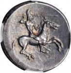 SICILY. Gela. AR Didrachm (8.75 gms), ca. 490/485-480/475 B.C. NGC Ch AU★, Strike: 5/5 Surface: 5/5.