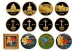 北京风景金币四枚