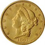 1867-S Liberty Head Double Eagle. EF-40 (PCGS).