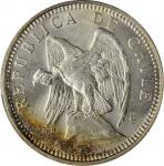 CHILE. 5 Pesos, 1927-So. Santiago Mint. PCGS MS-65 Gold Shield.