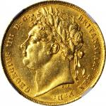GREAT BRITAIN. Sovereign, 1822.George IV (1820-30). NGC AU Details--Surface Hairlines.