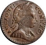 1786年康涅狄格铜币 PCGS AU 53 1786 Connecticut Copper
