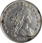 1801 Draped Bust Silver Dollar. BB-213, B-3. Rarity-3. EF Details--Repaired (PCGS).
