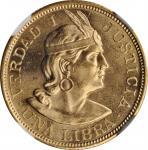 PERU. Libra, 1962-ZBR. Lima Mint. NGC MS-65.