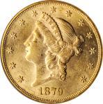 1879 Liberty Head Double Eagle. AU-58 (ANACS). OH.