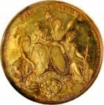 1861 New York Free Academy Cromwell Medal. Gold. 35 mm. 20.0 grams. SP-60 (PCGS).