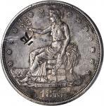 1875-CC Trade Dollar. Type I/I--Chopmark--EF-45 (PCGS).