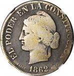 ECUADOR. 4 Reales, 1862-QUITO. Quito Mint. NGC VG-08.