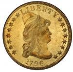 1796 Capped Bust Right Eagle. Bass Dannreuther-1. Rarity-4. Mint State-62+ (PCGS).