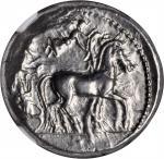 SICILY. Syracuse. Deinomenid Tyranny, 485-466 B.C. AR Tetradrachm (17.22 gms), Under Gelon, ca. 485-