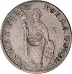 PHILIPPINES. Philippines - Peru. 8 Reales, ND (1834-37). Isabel II. PCGS Genuine--Cleaned, VF Detail