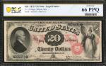Fr. 128. 1875 $20 Legal Tender Note. PCGS Banknote Gem Uncirculated 66 PPQ.
