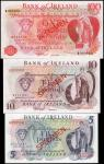 IRELAND, NORTHERN. Bank of Ireland. 5 to 100 Pounds, No Date. P-62s to 64s. Specimens. About Uncircu