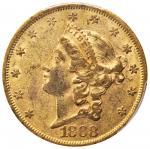 1868 Liberty Head Double Eagle. EF-45 (PCGS). CAC.