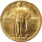 2016-W 100th Anniversary Standing Liberty Quarter. Gold. First Day of Issue, Washington, D.C. Chief