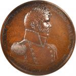 1813 (1818) Master Commandant Oliver H. Perry. Original Dies. Bronze. 64.8 mm. By Moritz Furst. Juli