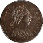 1788 Connecticut Copper. Miller 4.1-K, W-4430. Rarity-5. Mailed Bust Right. AU-58 (PCGS).