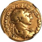TRAJAN, A.D. 98-117. AV Aureus (7.23 gms), Rome Mint, ca. A.D. 103-111. NGC Ch F, Strike: 5/5 Surfac