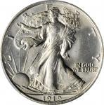 1919 Walking Liberty Half Dollar. MS-64+ (PCGS). CAC.