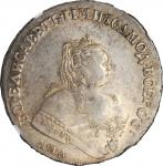 RUSSIA. Ruble, 1752-MMA E. Moscow Mint. Elizabeth. NGC AU-58.