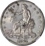 1874-CC Trade Dollar. AU Details--Chopmarked (NGC).