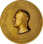 1933 Franklin D. Roosevelt First Inaugural Medal. Bronze. 76.3 mm. By Paul Manship. Dusterberg-OIM 8