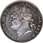 1821年英国壹圆银币。乔治四世。 GREAT BRITAIN. Crown, 1821. George IV. NGC AU-58.