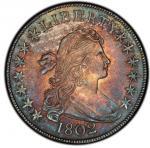 1802 Draped Bust Half Dollar. Overton-101. Rarity-3. MS-62 (PCGS).PCGS Population: 2, none finer.
