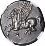 CORINTHIA. Corinth. AR Stater (8.53 gms), ca. 375-300 B.C.