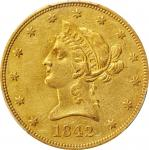 1842-O Liberty Head Eagle. AU-50 (PCGS).