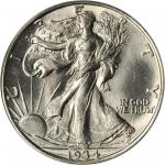 1934-D Walking Liberty Half Dollar. MS-64 (PCGS). CAC.