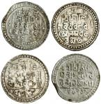 Jaintiapur, Ram Simha (1790-32), Tankas (2), 9.25, 8.78g, Sk 1712, as previous lot but with symbol M