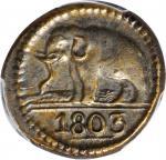 1803年锡兰24 斯图维尔。乔治三世。 CEYLON. 24 Stuivers, 1803. George III. PCGS AU-55.