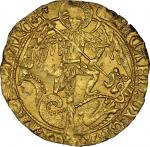 Richard III (1483-85), Angel, 5.14g, type 2B, m.m. boars head 1 / boars head 2, ricard. di: gra rex.