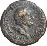 VESPASIAN, A.D. 69-79. AE Sestertius (24.79 gms), Rome Mint, ca. A.D. 71. NGC Ch F, Strike: 5/5 Surf