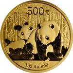 2010年熊猫纪念金币1盎司 NGC MS 70