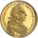 DANEMARK Frédéric V (1746-1766). Ducat à la galère de la Compagnie danoise des Indes orientales 1746