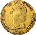 COLOMBIA. 16 Pesos, 1844-BOGOTA RS. Bogota Mint. NGC VF-30.